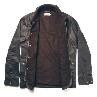 The Rover Jacket in Chocolate Beeswaxed Canvas