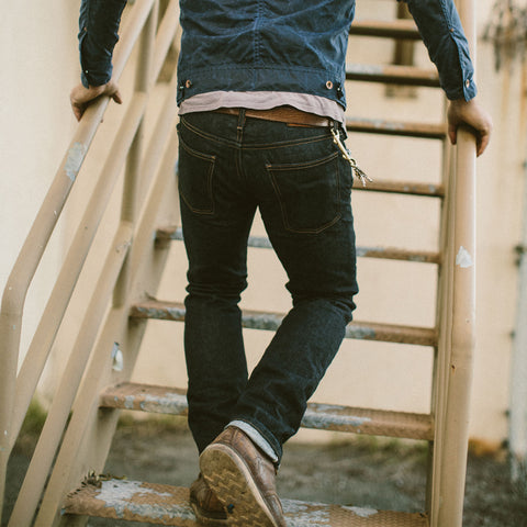 The Slim Jean in Kaihara Mills Selvage - alternate view