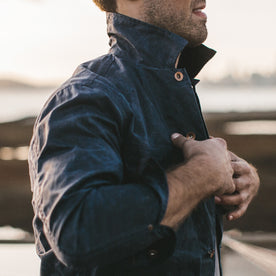 The Long Haul Jacket in Navy Waxed Canvas: Alternate Image 3