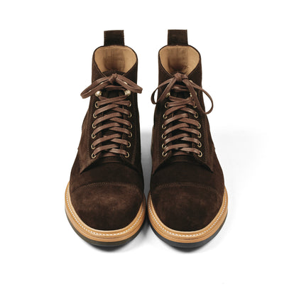 The Moto Boot in Weatherproof Chocolate Suede: Alternate Image 8