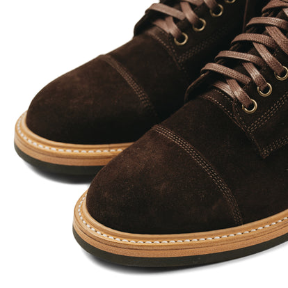 The Moto Boot in Weatherproof Chocolate Suede: Alternate Image 9