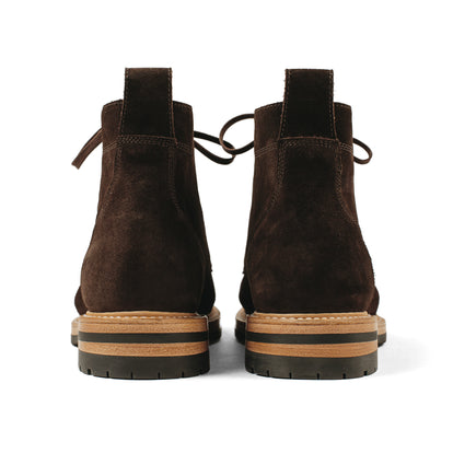 The Moto Boot in Weatherproof Chocolate Suede: Alternate Image 13