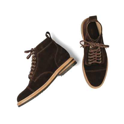 The Moto Boot in Weatherproof Chocolate Suede: Alternate Image 15