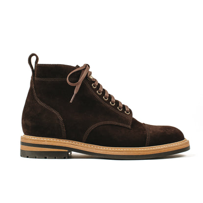 The Moto Boot in Weatherproof Chocolate Suede