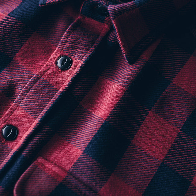 The Moto Utility Shirt in Red Buffalo Plaid