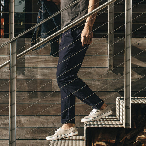 The Slim Chino in Organic Navy - alternate view