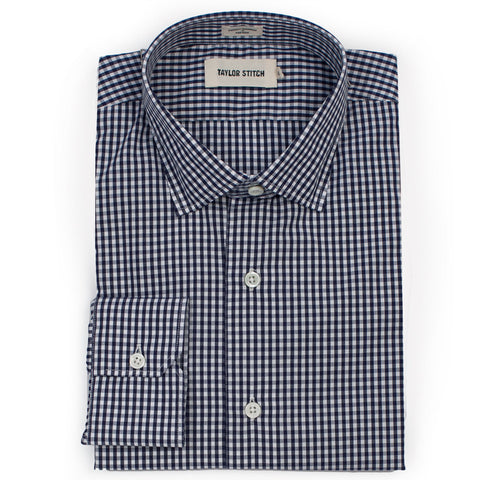 The Hyde in Navy Mini Gingham - featured image