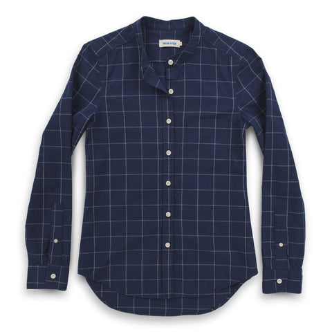 The Piper Shirt in Nautical Plaid - featured image