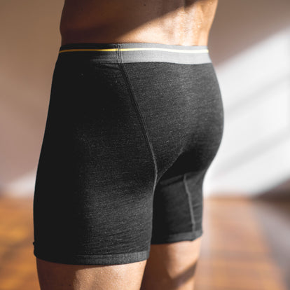 The Merino Boxer in Heathered Black: Alternate Image 3