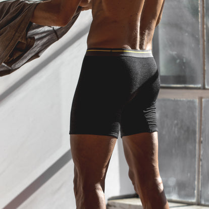 The Merino Boxer in Heathered Black: Alternate Image 4