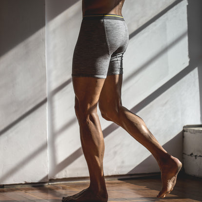 The Merino Boxer in Heather Grey: Alternate Image 3