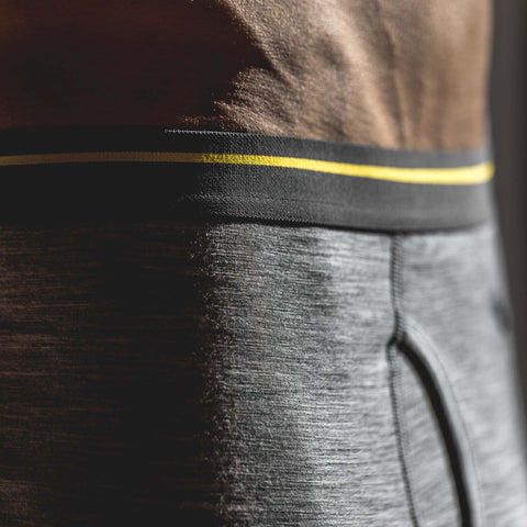 The Merino Boxer in Heather Grey - alternate view