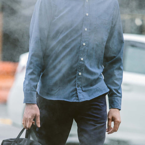 The Merino Jack in Sky Blue Chambray - alternate view