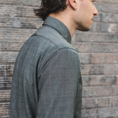 The Merino Jack in Stone Green Chambray: Alternate Image 2