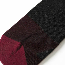 The Merino Sock in Dipped Maroon - featured image