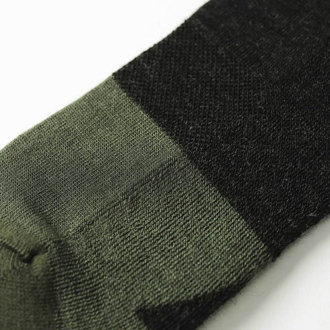The Merino Sock in Dipped Moss - alternate view