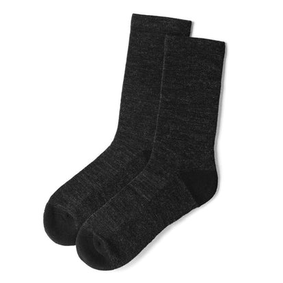 The Merino Sock in Solid Black: Featured Image