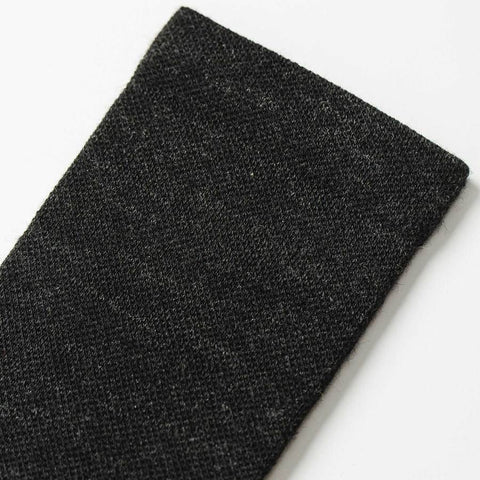 The Merino Sock in Solid Black - alternate view