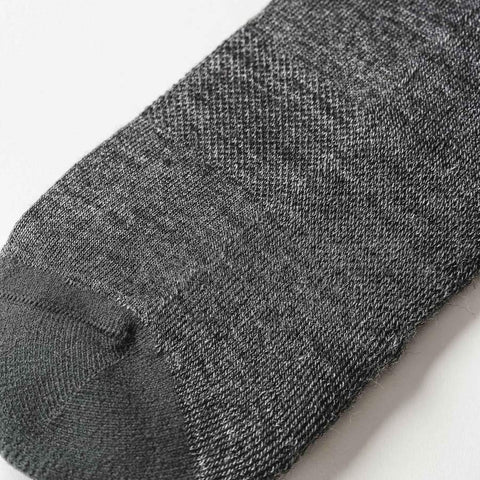 The Merino Sock in Solid Charcoal - alternate view
