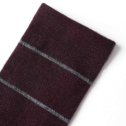 The Merino Sock in Maroon Stripe: Alternate Image 2