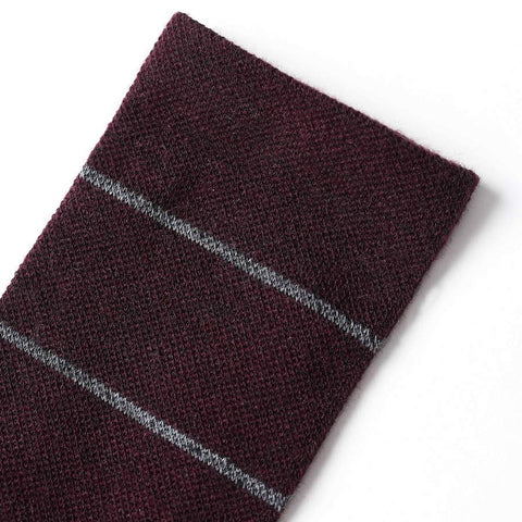 The Merino Sock in Maroon Stripe - alternate view