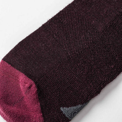 The Merino Sock in Maroon Stripe: Alternate Image 1