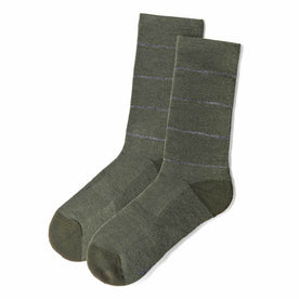 The Merino Sock in Moss Stripe: Featured Image