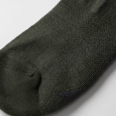 The Merino Sock in Moss Stripe - alternate view