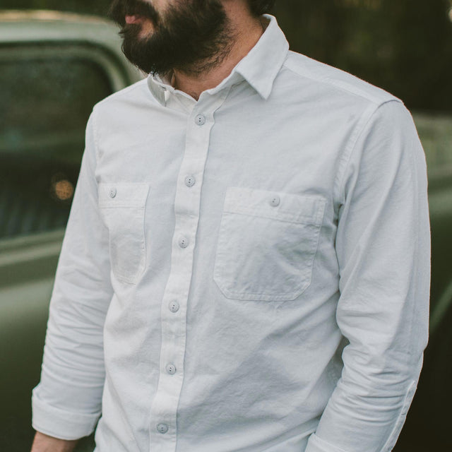 The California in White Everyday Chambray