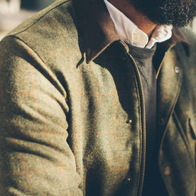 The Rover Jacket in Olive Plaid Waxed Wool: Alternate Image 5