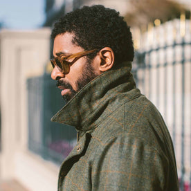 The Rover Jacket in Olive Plaid Waxed Wool: Alternate Image 6