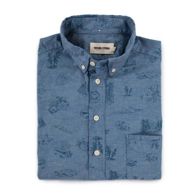 The Summer Popover in Navy Aloha