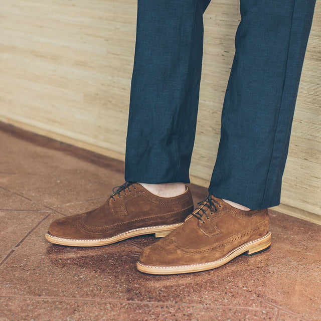 The Longwing in Peanut Suede