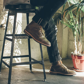 The Plain Toe Moto Boot in Natural Chromexcel - Extra Widths: Alternate Image 5