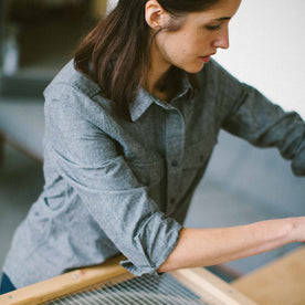 The Studio Shirt in Charcoal Everyday Chambray: Alternate Image 2