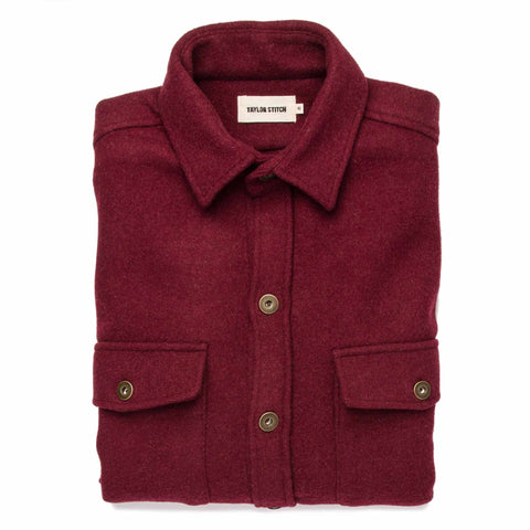 The Explorer Shirt in Burgundy - featured image
