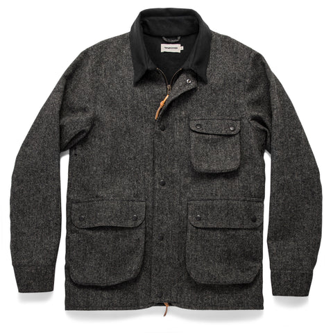 The Rover Jacket in Charcoal Birdseye Waxed Wool - featured image