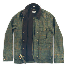 The Rover Jacket in Olive Plaid Waxed Wool: Alternate Image 2