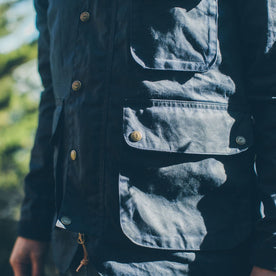 The Rover Jacket in Navy Waxed Cotton: Alternate Image 4