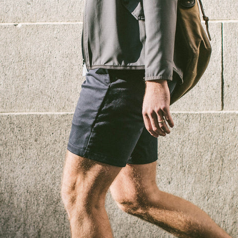 The Commuter Short in Navy Merino 4S - alternate view