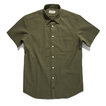 The Short Sleeve California in Army Seersucker: Featured Image