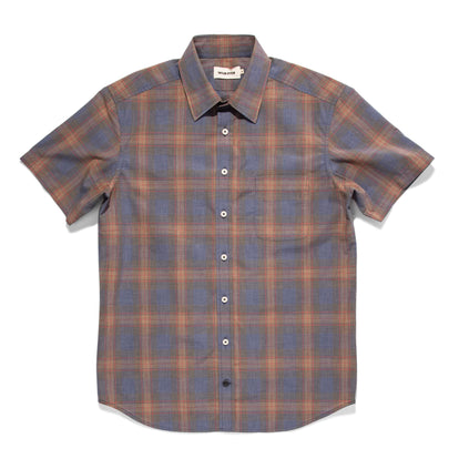 The Short Sleeve California in Melange Plaid