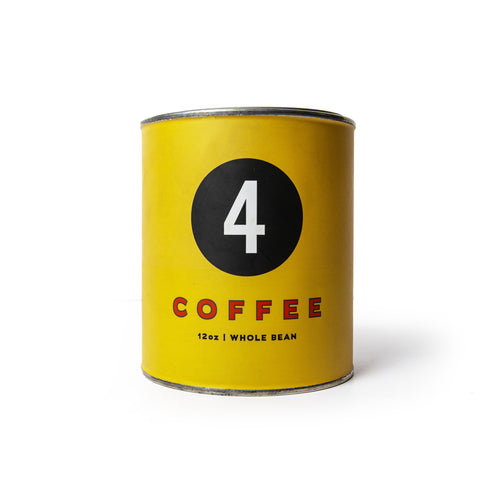 Four Coffee Tin in Sunday Motor Club Blend - featured image