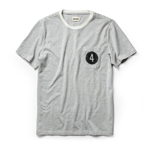 The Fourtillfour Heavy Bag Tee in Ash Stripe - featured image