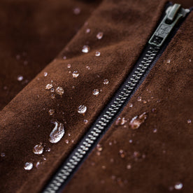 The Moto Jacket in Tobacco Weatherproof Suede: Alternate Image 7