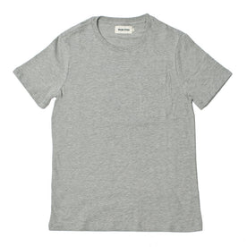 The Crewneck Pocket Tee in Heather Grey: Featured Image