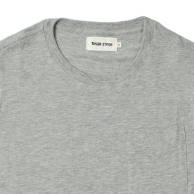 The Crewneck Pocket Tee in Heather Grey: Alternate Image 2