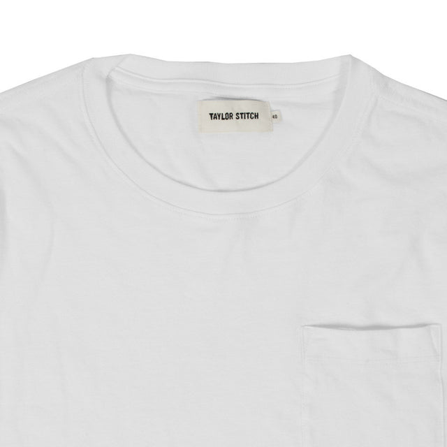 The Crewneck Pocket Tee in White