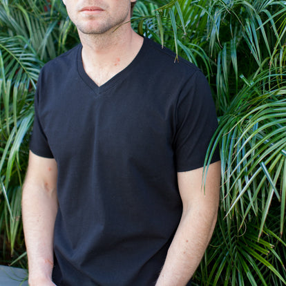 The V-Neck Tee in Black