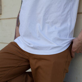 The V-Neck Tee in White: Alternate Image 5
